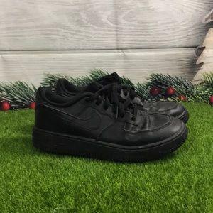 Nike Air Force 1 Triple Black Size 3Y